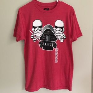 Star Wars Men's Red Shirt Short Sleeve Size Small